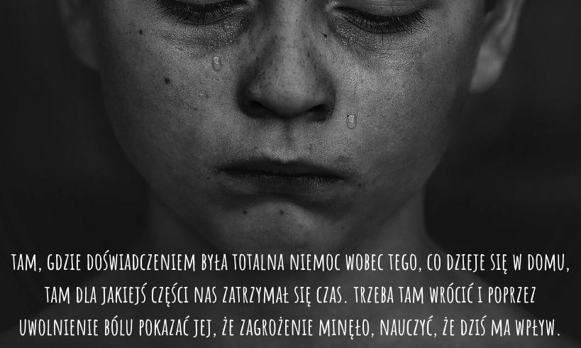 bezradność dziecka, łzy, wewnętrzne dziecko